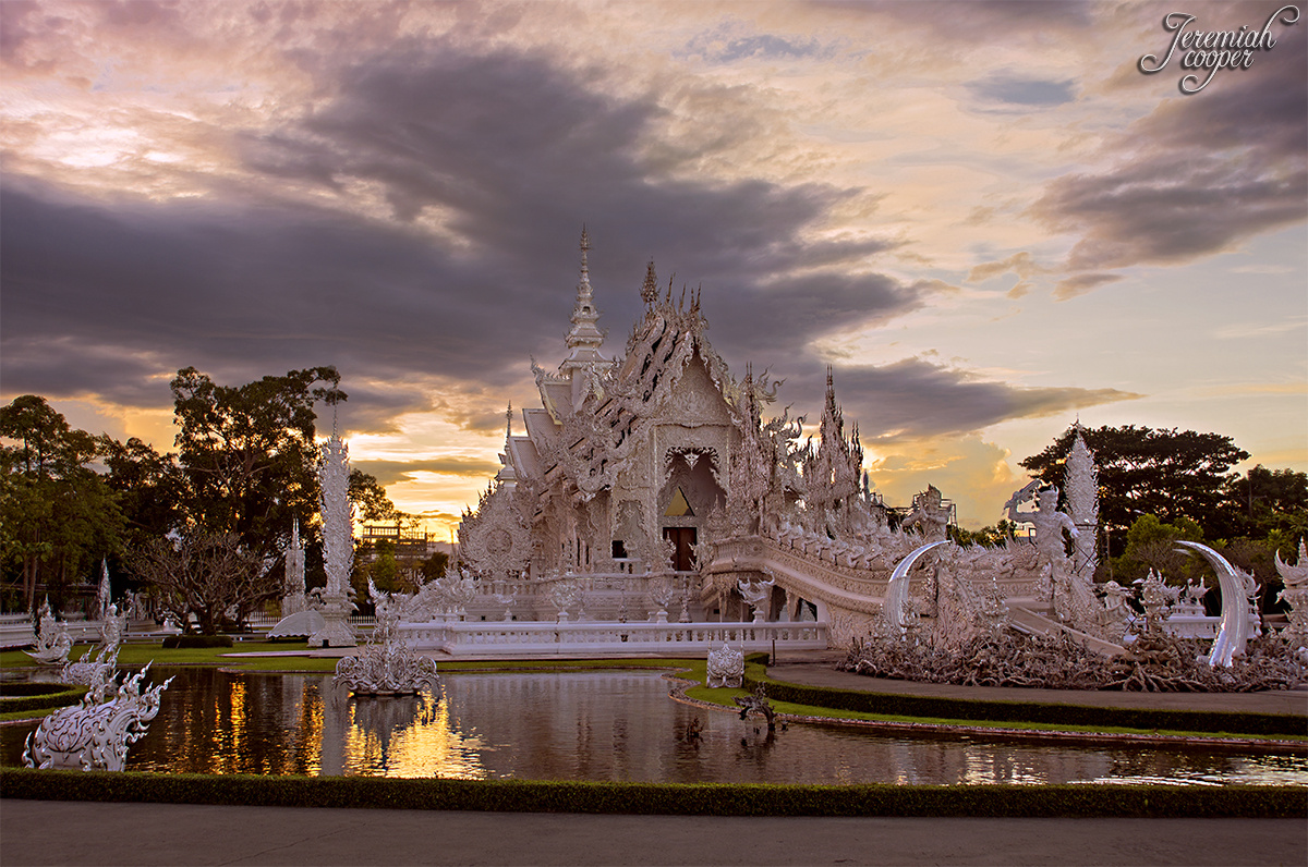 The White Temple at Sunset by Jeremiah Cooper
