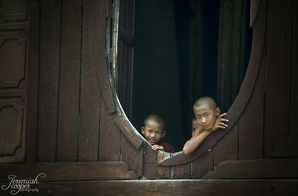 Young Burmese Monks by Jeremiah Cooper