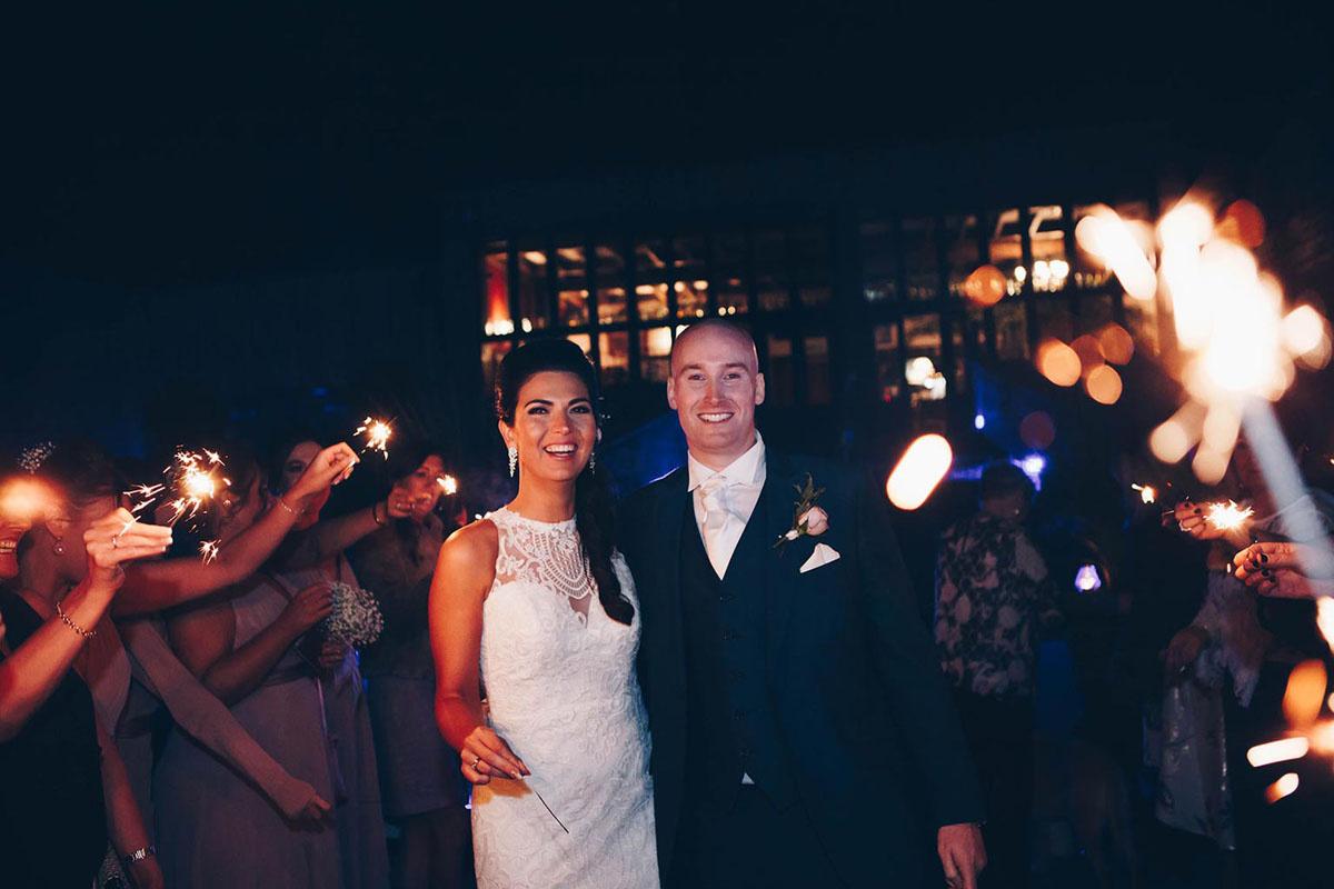 Wedding sparklers by Erika Tanith
