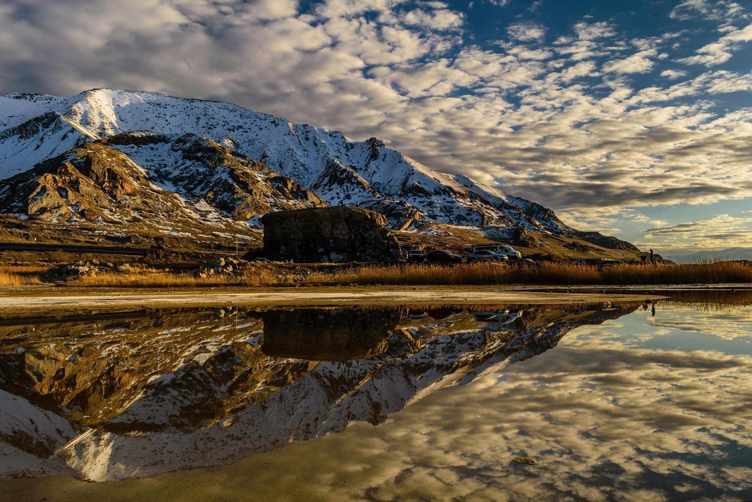 Oquirrh Mountain Reflection by Brandon Montrone