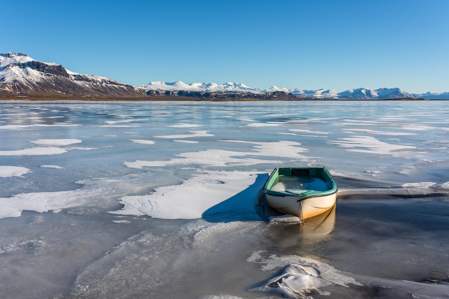 Frozen Boat by Achim Hofbauer