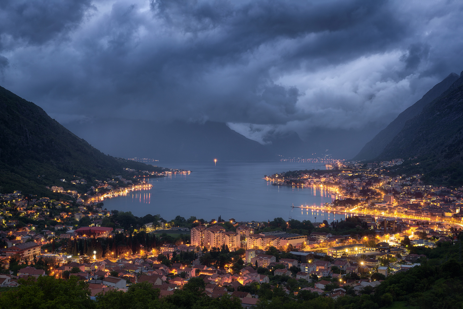 Bay of Kotor in the twilight by Nik & Alexandra