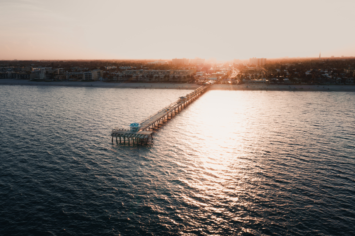 Sunset Over Lauderdale by Carlos Mitchell