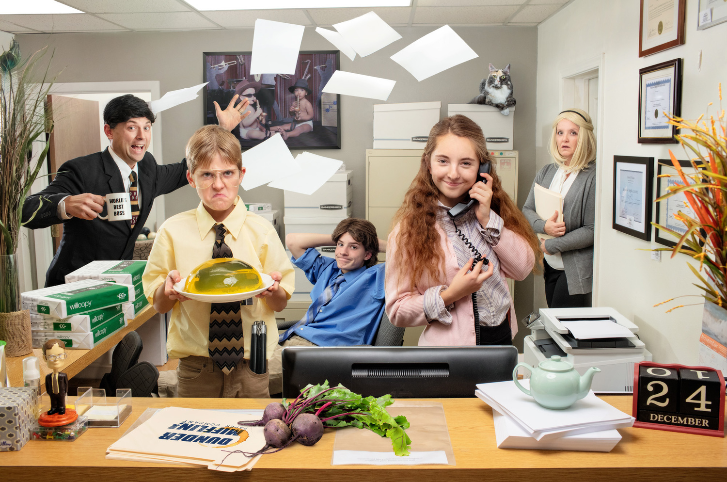 """The Office"" family portrait by Dan McClanahan"