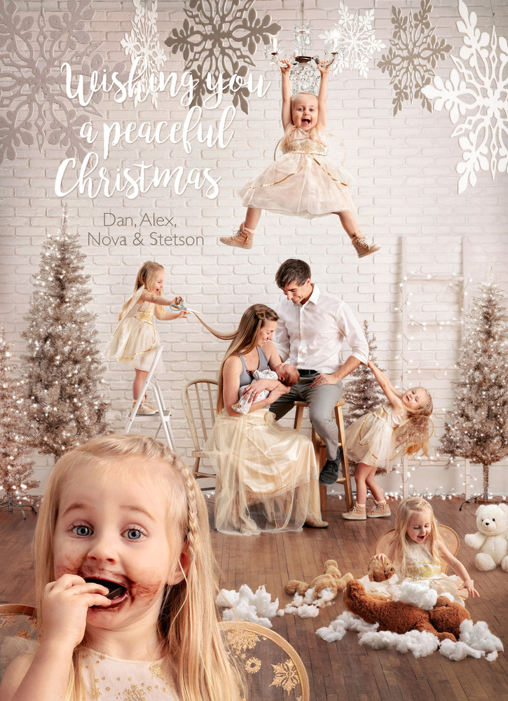Christmas with 2 kids. by Dan McClanahan