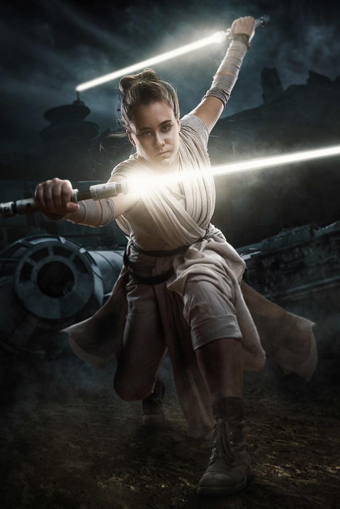 Rey channeling Ahsoka by Dan McClanahan