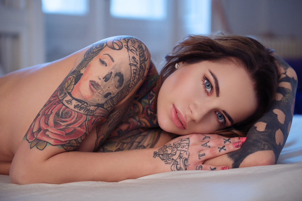 The Tattooed girl II. by Rafael Orczy