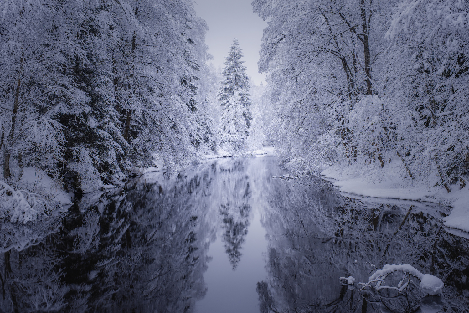 River in whilte by Dima Vorontsov