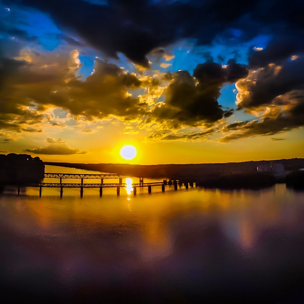 Sunset River by Cliff Billingsley