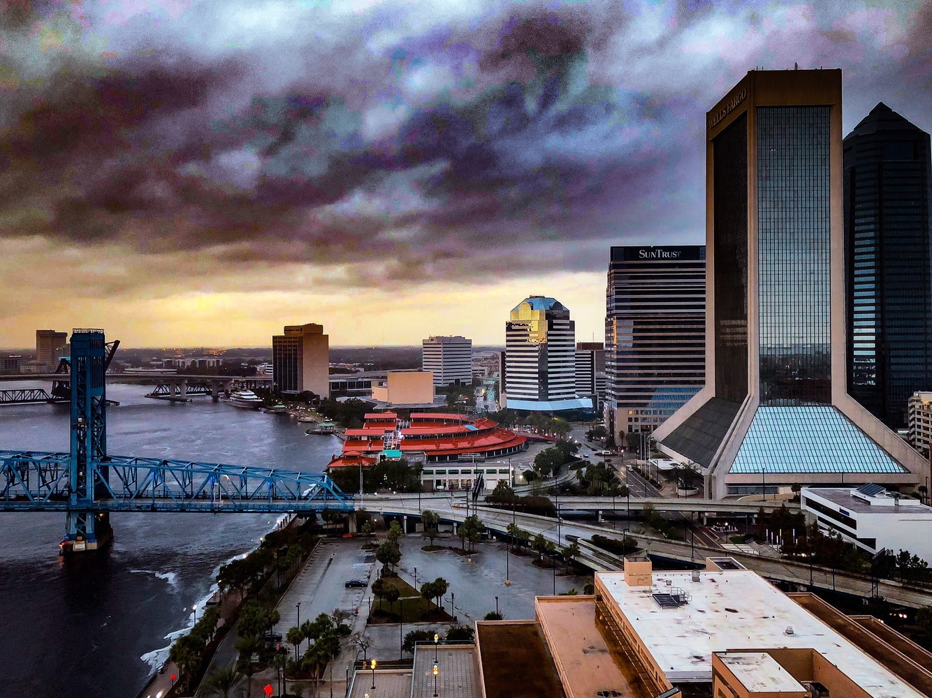 Storm Rolling In Over JAX by Cliff Billingsley
