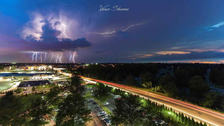 Sunset & Thunder by Varun Sharma
