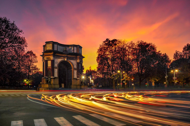 Flaming arch by Nicolò Caredda
