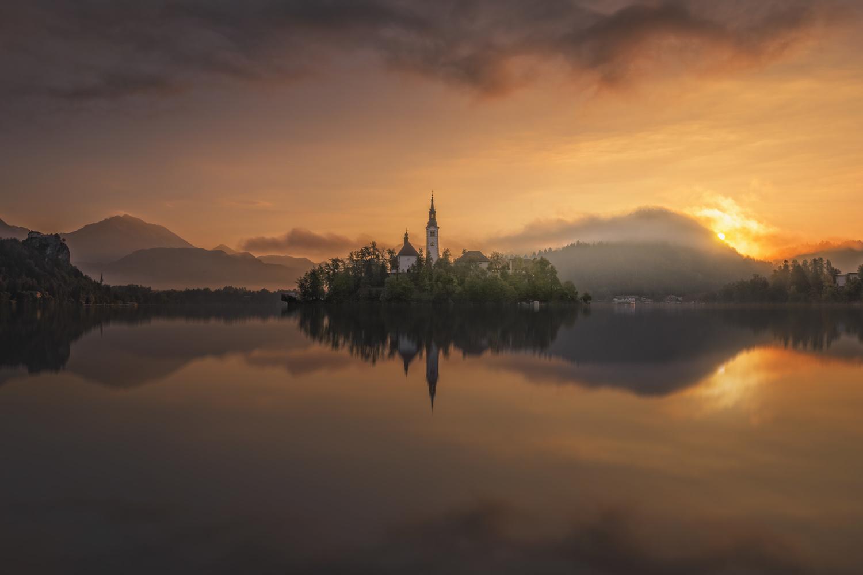 Bled lake. by Sergio Saavedra