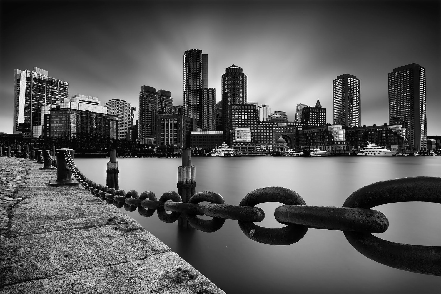 Boston Skyline by Geoffrey Gilson