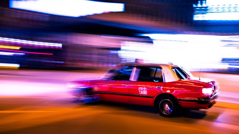 Hong Kong Taxi by David Levitz
