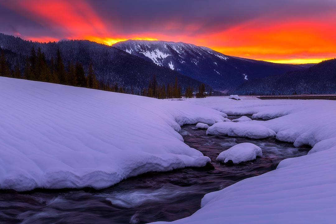 Blazing White River by Daniel Gomez