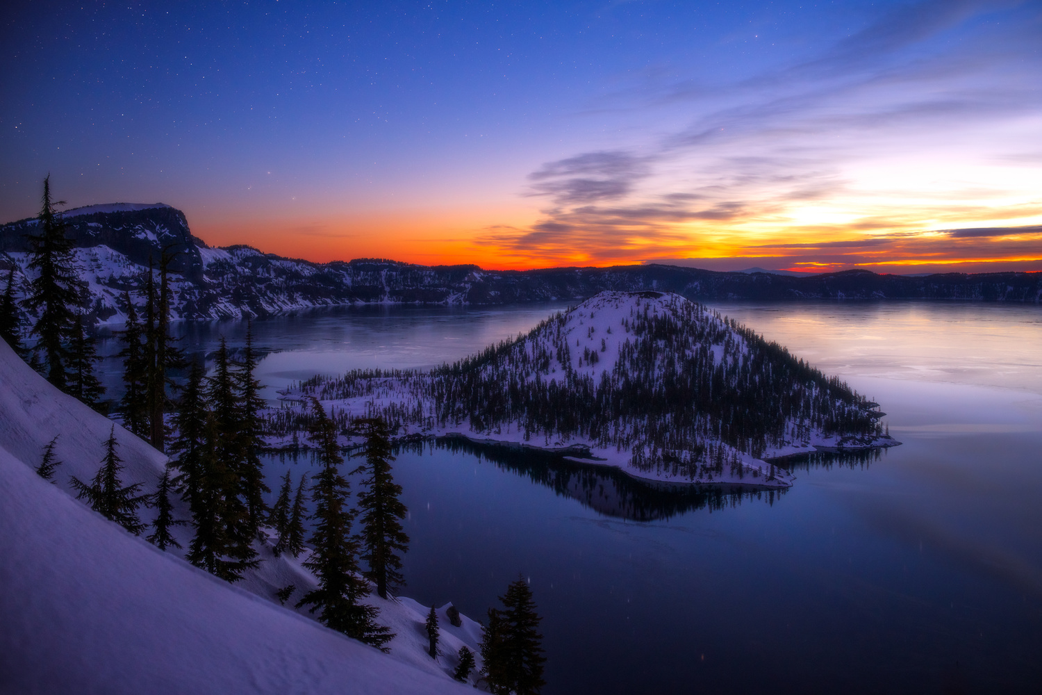 Crater Lake at Twilight by Daniel Gomez