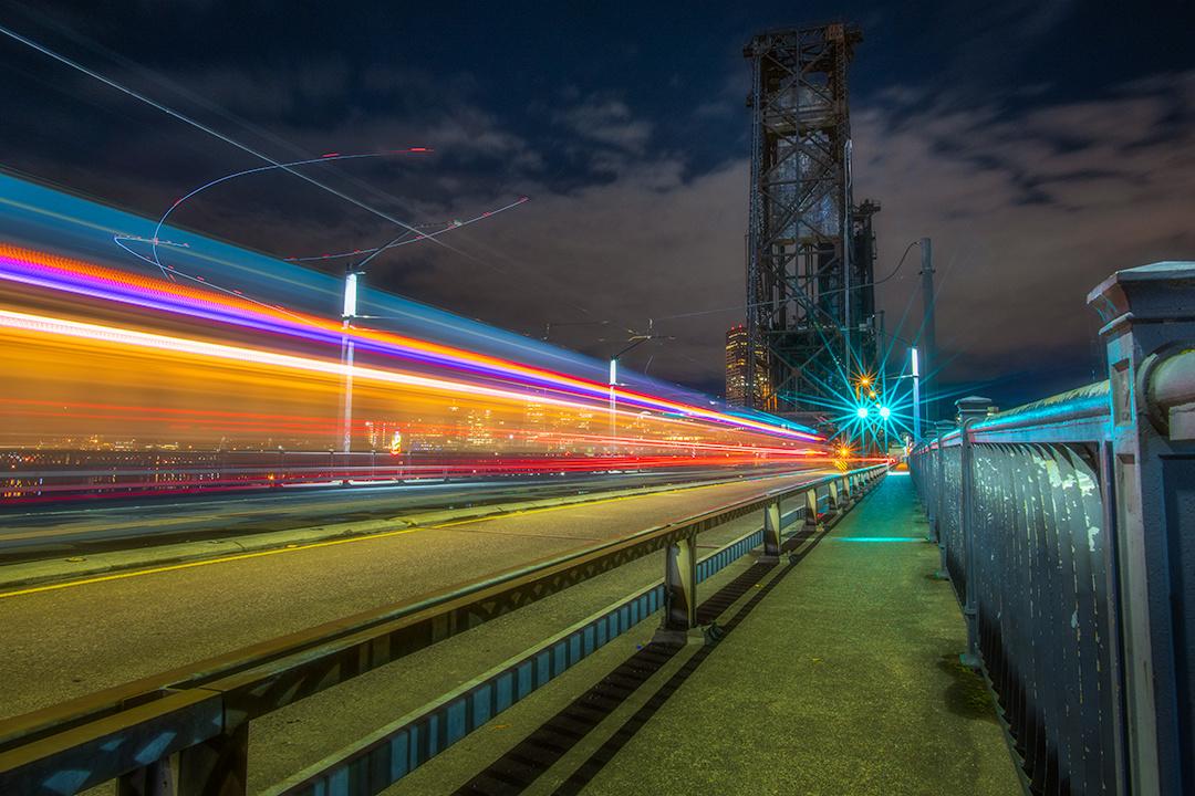 Steel Bridge at Night by Daniel Gomez