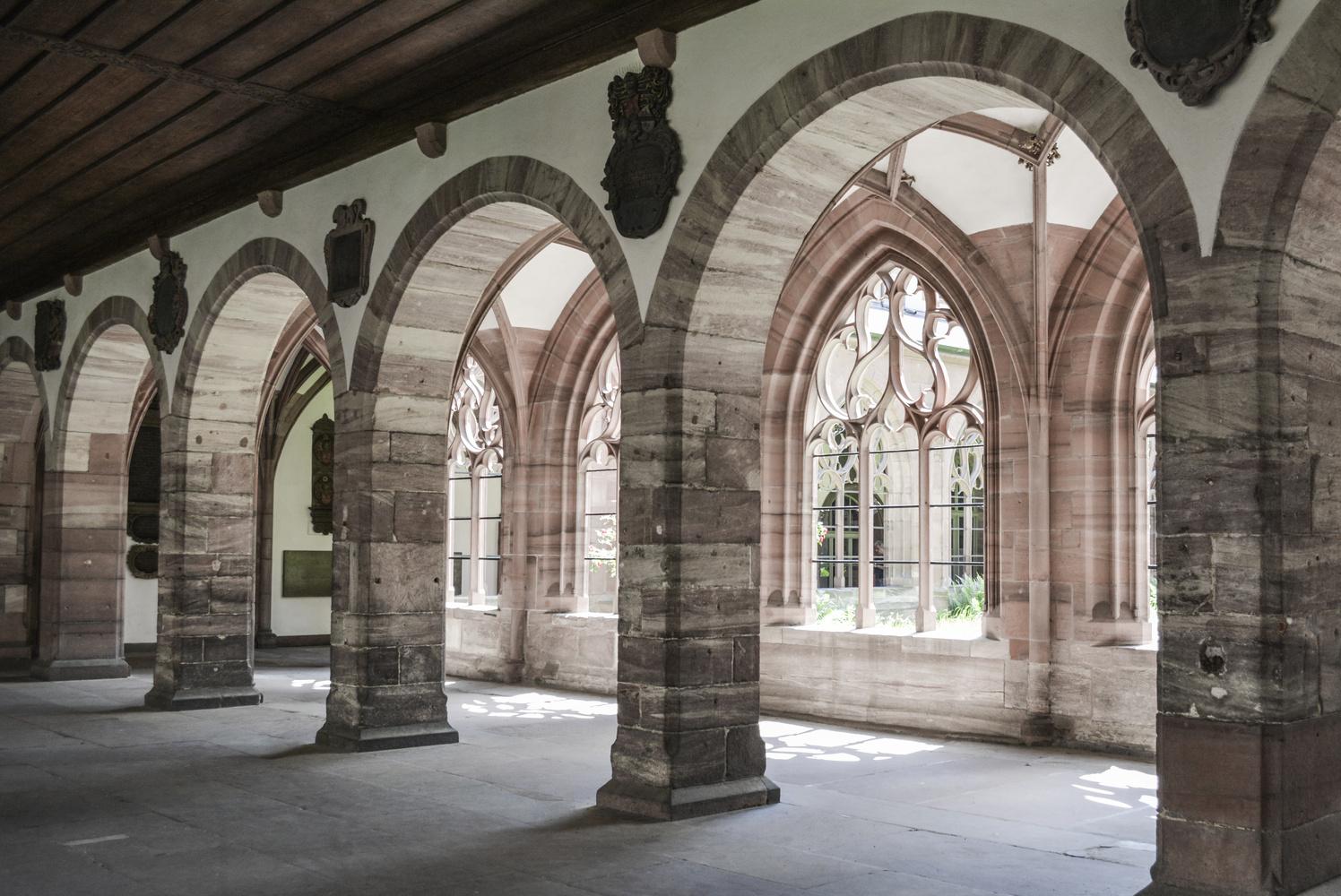 Basel Minster Archways by Dan Grayum