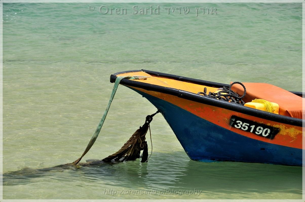 Caesarea boat, Israel by Oren Sarid