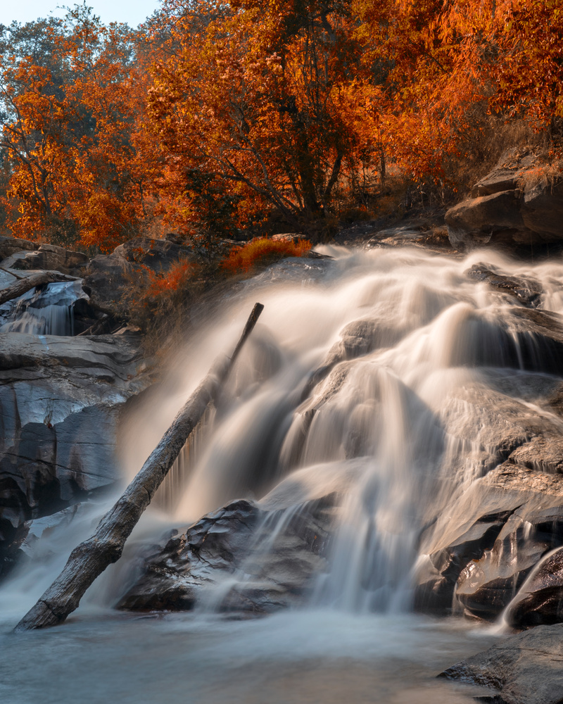 Autumn waterfall by Randy Randleman