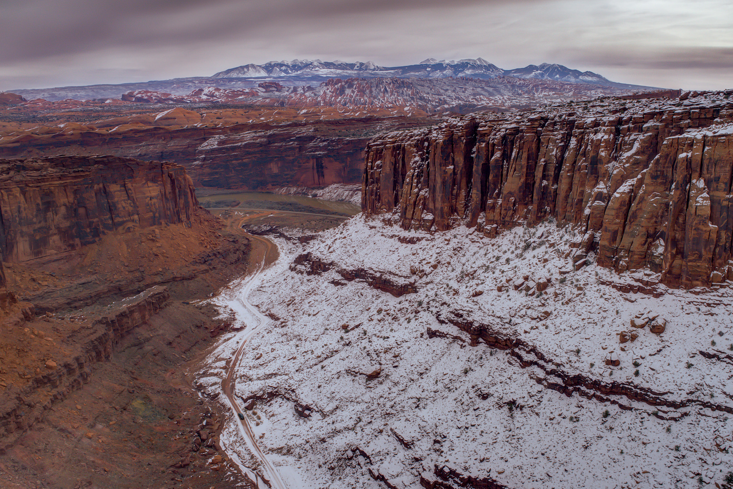 Hot & Cold Towards La Sal's by William Lipscomb