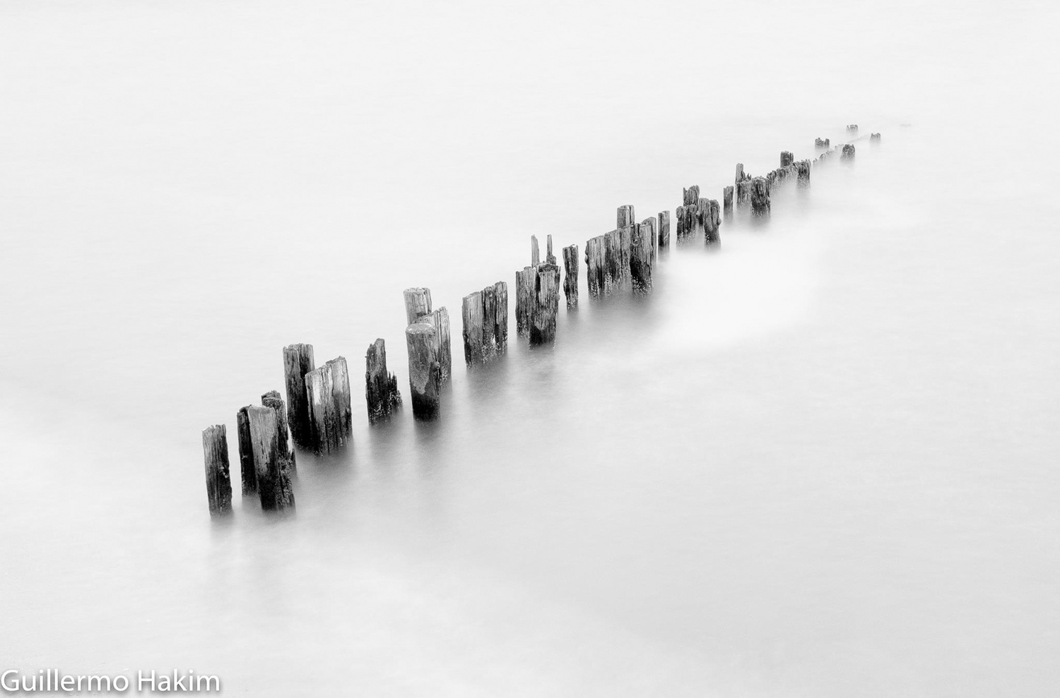 Remains of the pylons by Guillermo Hakim