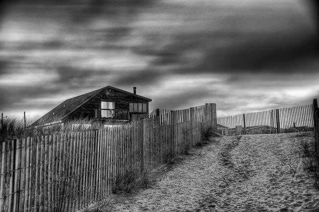 Blue Hour in B&W by Guillermo Hakim