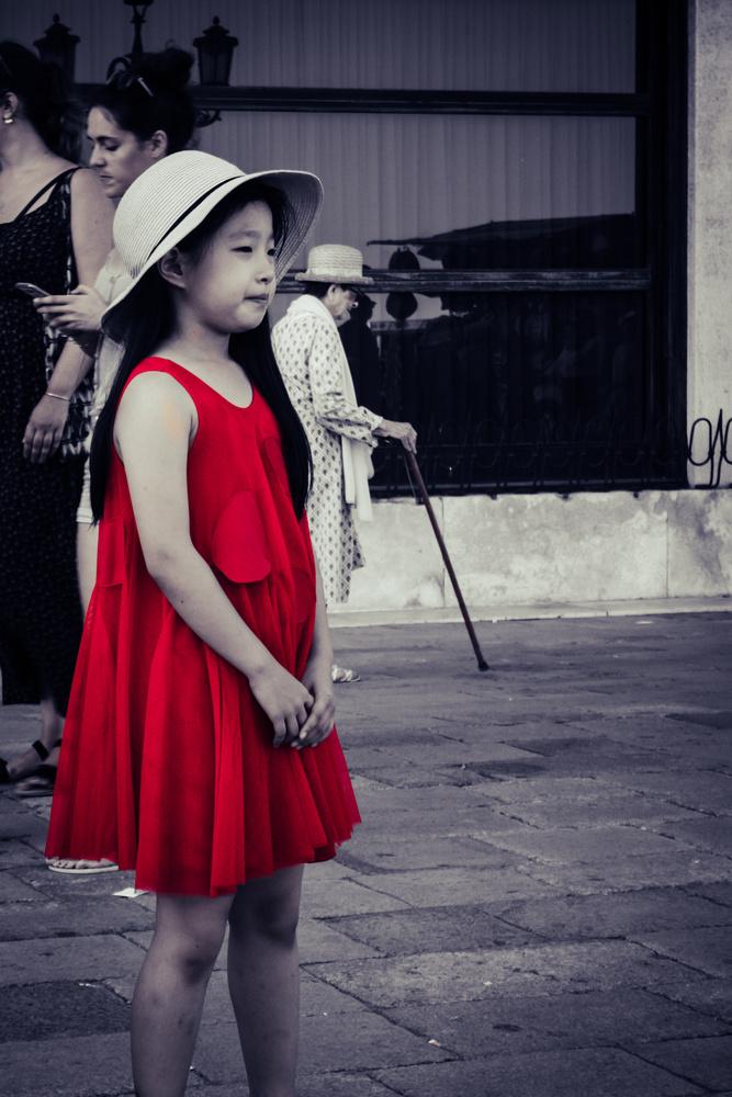 Girls in red Dress by Dennis Billstein