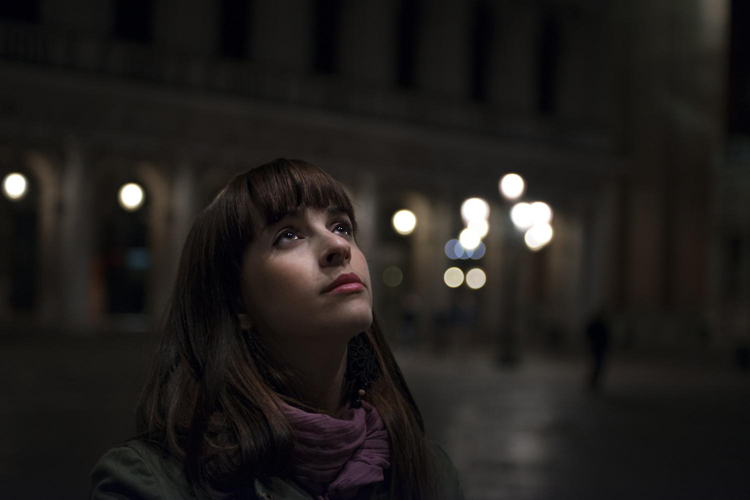 Portrait nocturne à Venise by Léonard Rodriguez