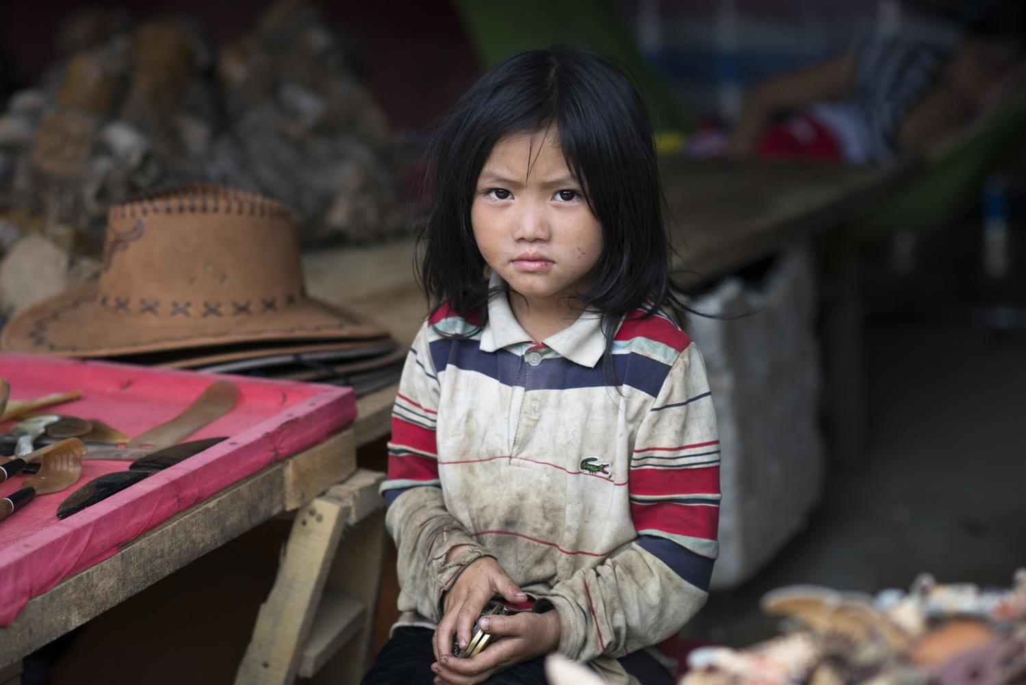 A nice vietnamese girl in Sapa, Vietnam by Léonard Rodriguez