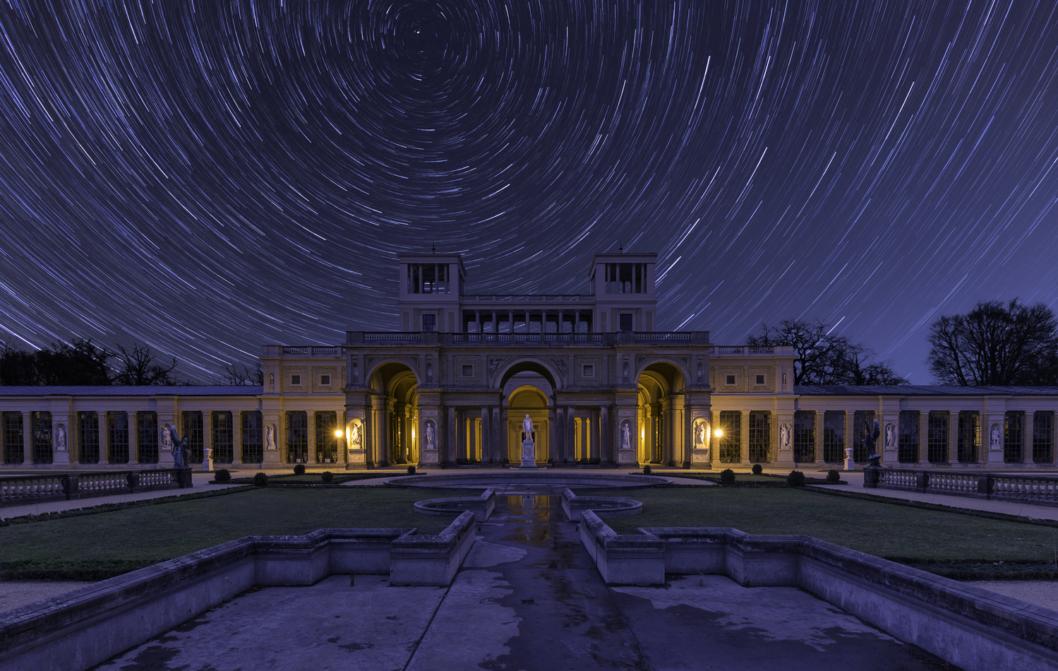 Star Trails at Orangery Palace - Potsdam by Christian Wenglorz