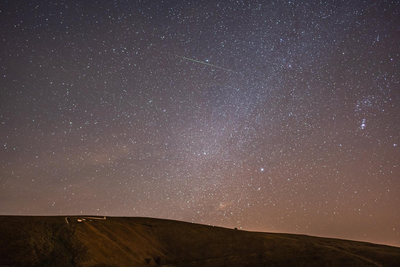 Green Geminids Meteor 2018 by Robert Leach