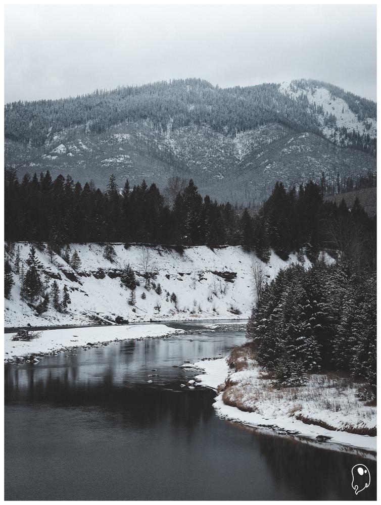 Winter River by Logan Johnson