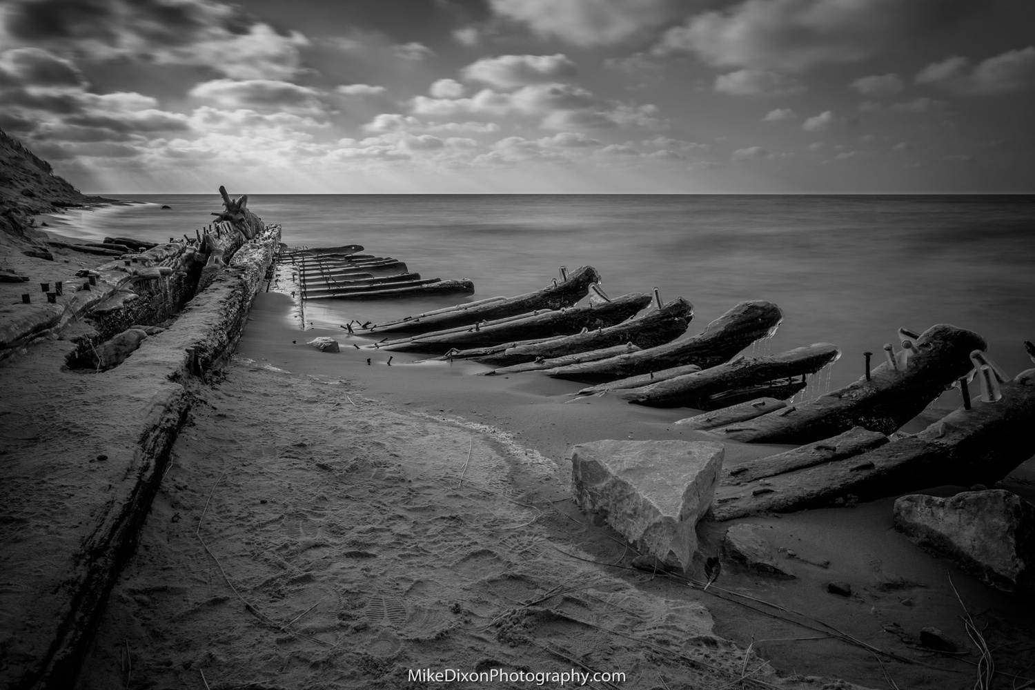 1870's Shipwreck by Mike Dixon