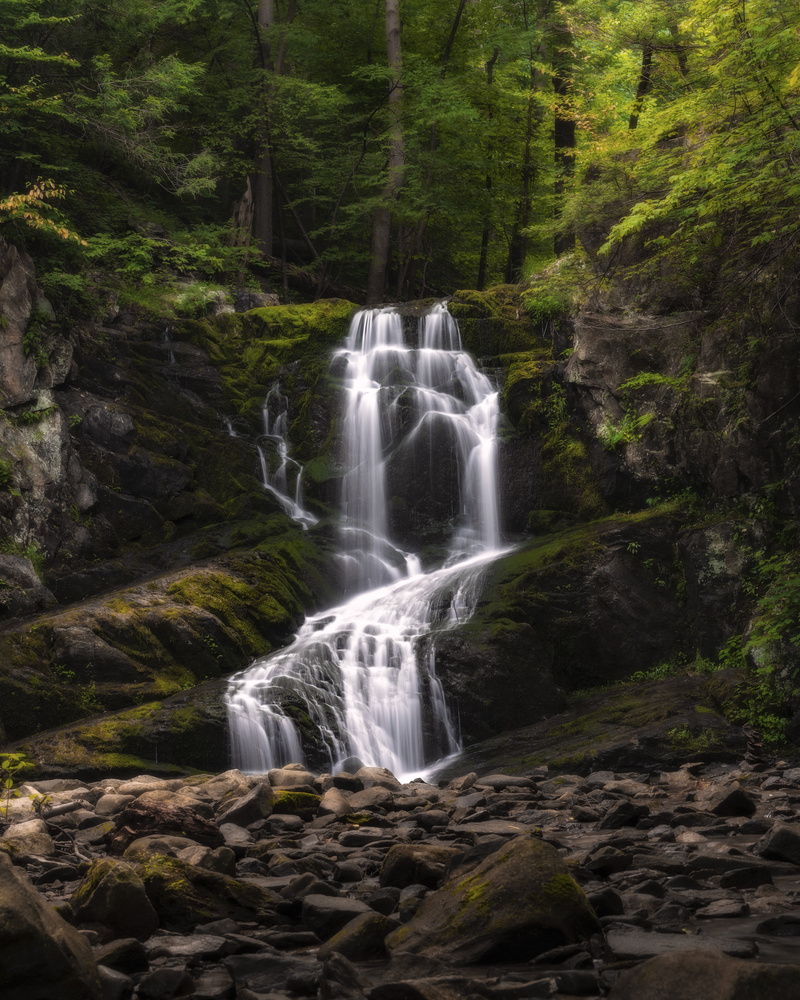 Indian Brook Falls, Summer by Andrew Bendin