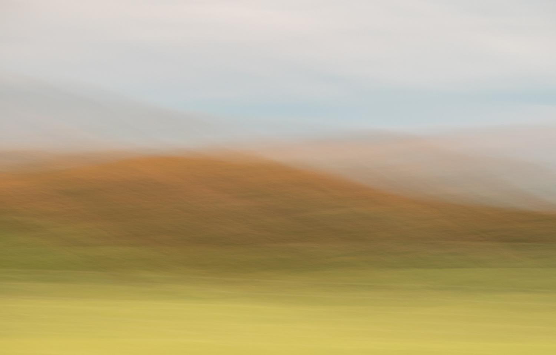 Autumn hillside by Alan Brown