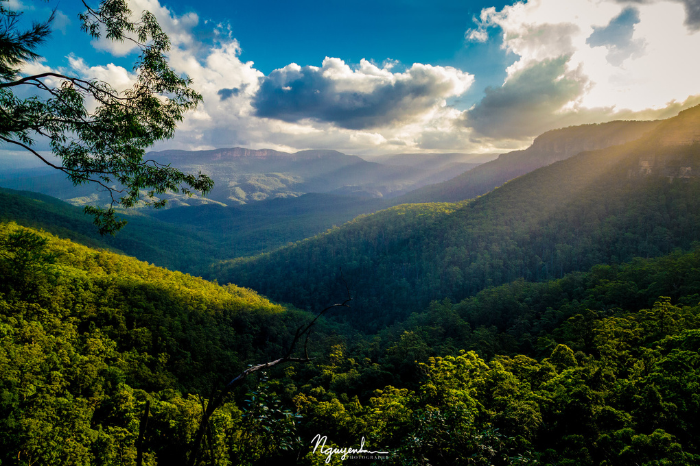 Into the Blue Mountains by San Nguyen