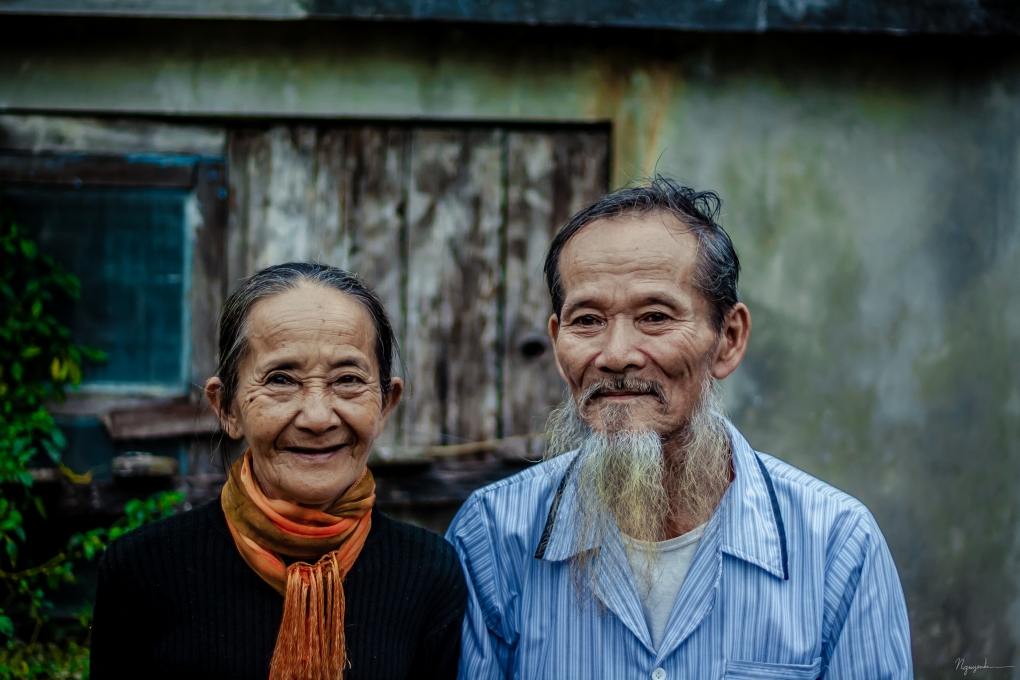 Happiness at an old age by San Nguyen