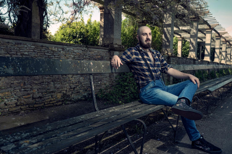 Gene sitting by Terry Hammond