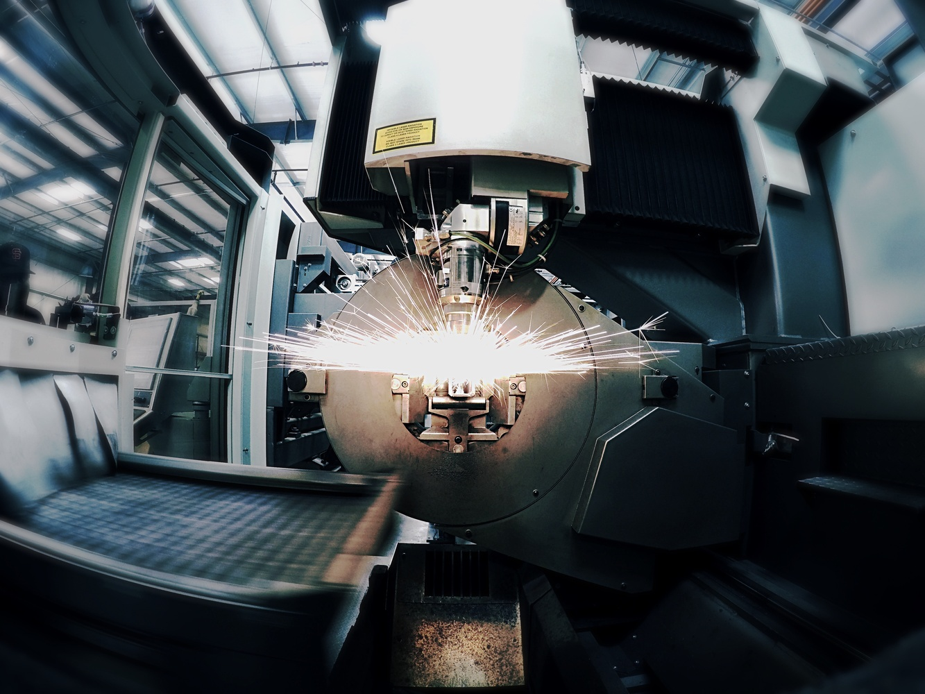 GoPro shot inside machine by Olen Hogenson