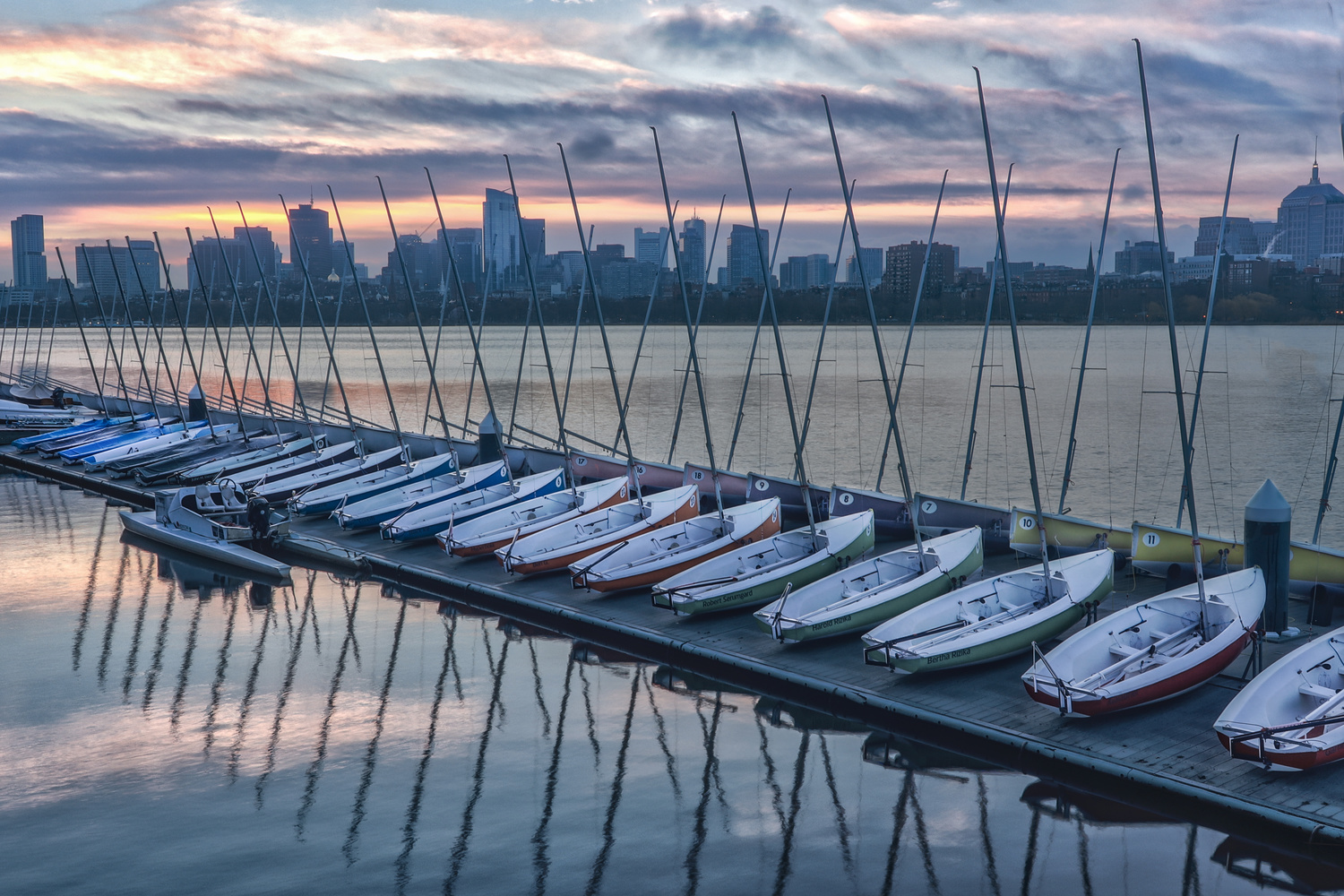 Charles River Boat House by Steve Shannon
