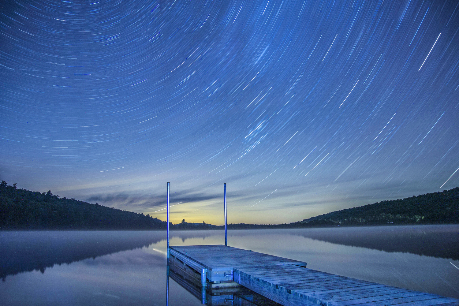 8th Lake Star Trails by Steve Shannon