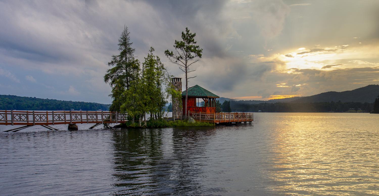 4th Lake Gazebo by Steve Shannon