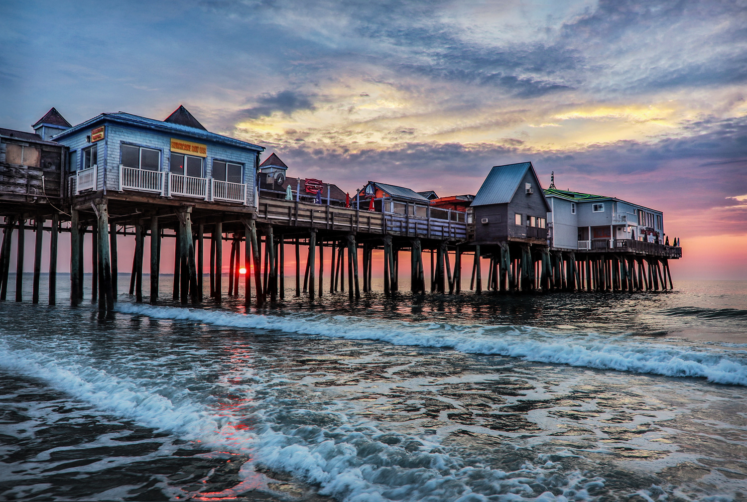 The Pier at Old Orchard Beach by Steve Shannon