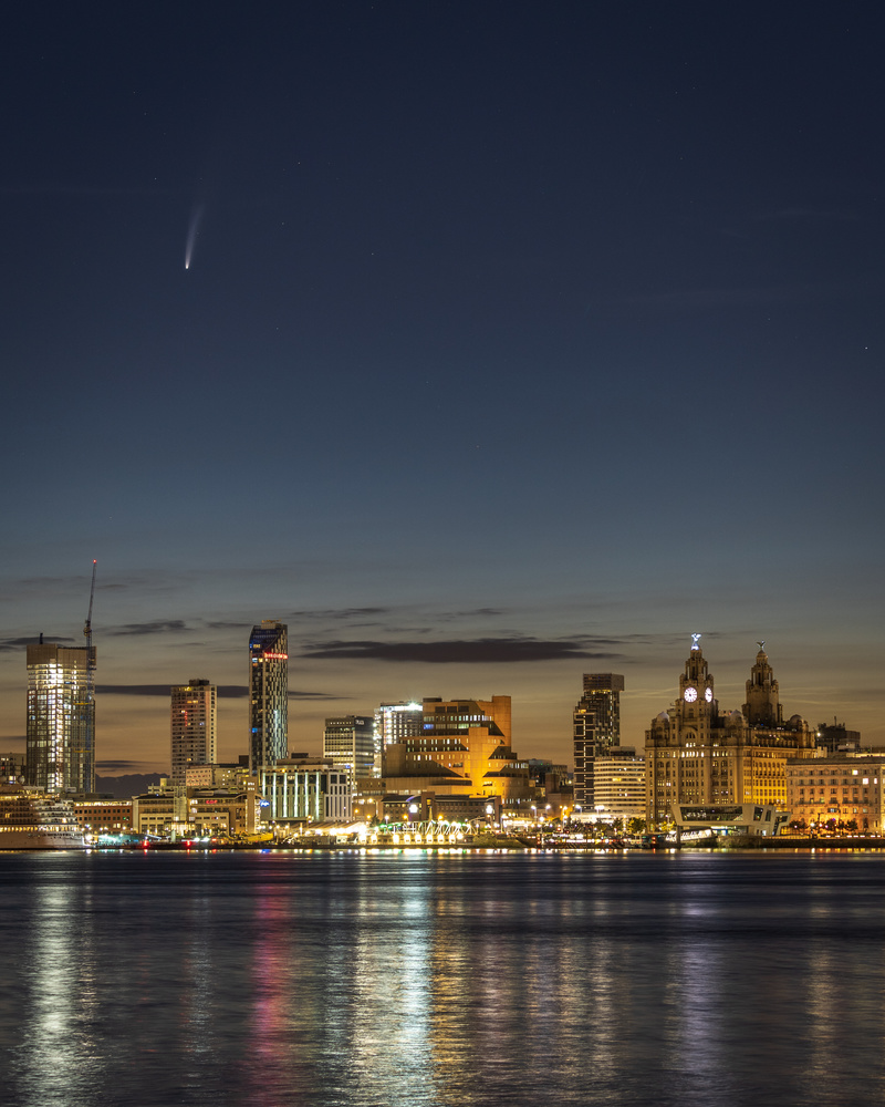 Comet Neowise Over Liverpool by Greg Sheard