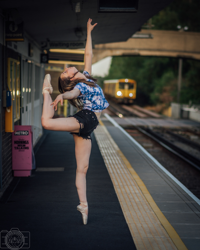 Ballet at the train station by Greg Sheard