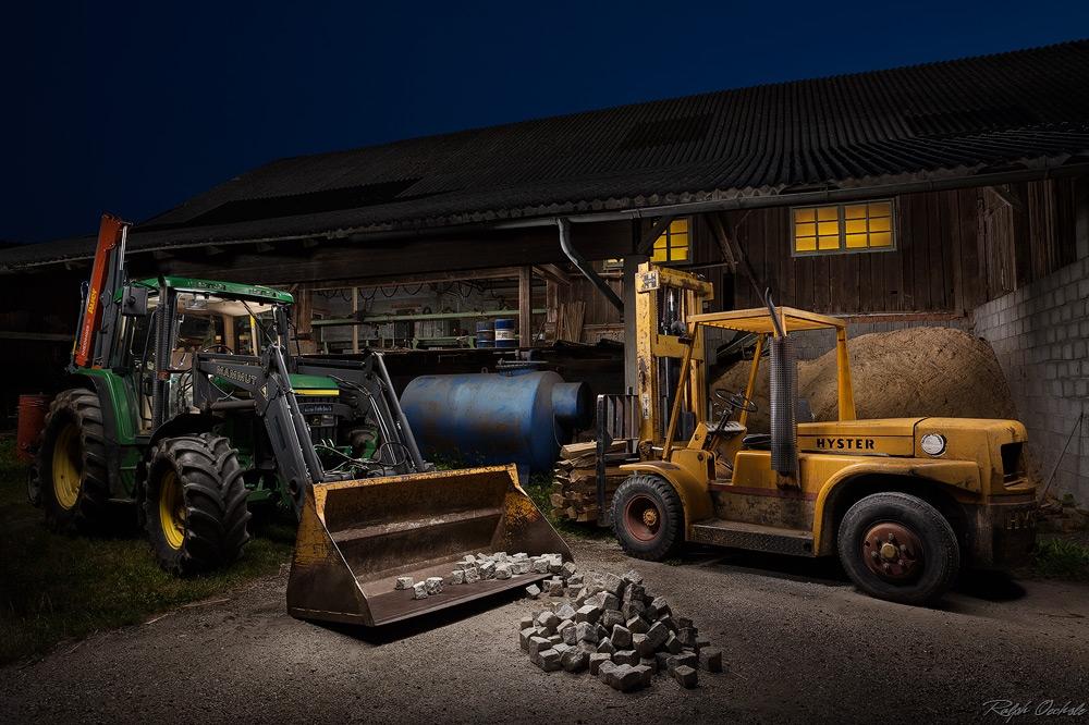 tractor III - lightpainting by Ralph Oechsle