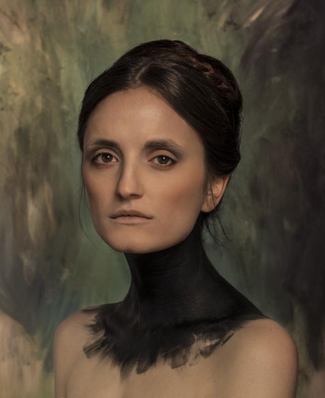 Painted Portrait by Djinane ALSUWAYEH