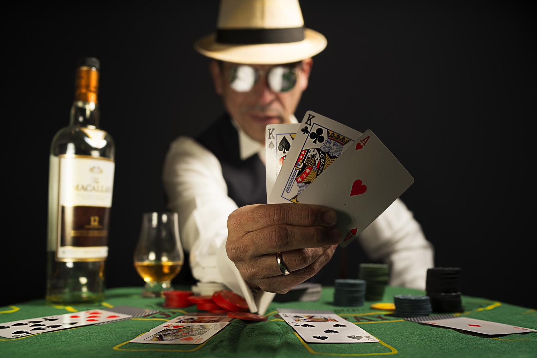 The Croupier has a Winning Hand by Raul Farfan